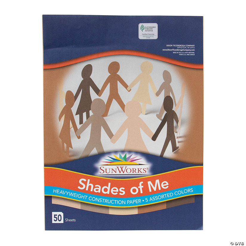 "Pacon® Assorted Multicultural Colors 9"" x 12"" Heavyweight Construction Paper - 50 Sheets Audio Thumbnail"