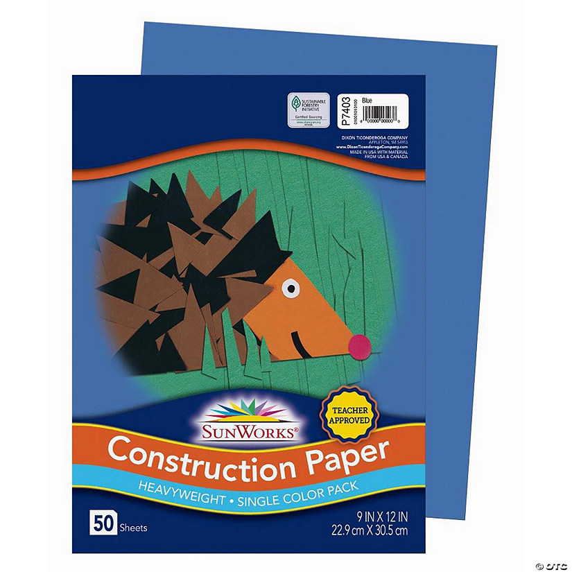 "Pacon® Riverside® Blue 9"" x 12"" Heavyweight Construction Paper - 50 Sheets Audio Thumbnail"
