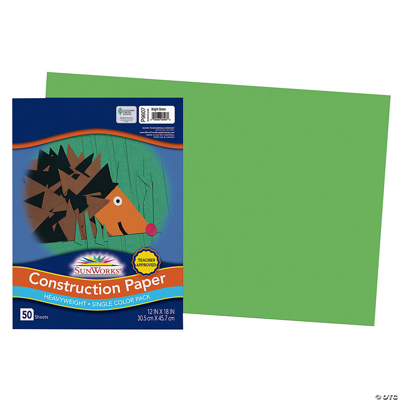 "Pacon® Riverside® Green 12"" x 18"" Heavyweight Construction Paper - 50 Sheets Audio Thumbnail"
