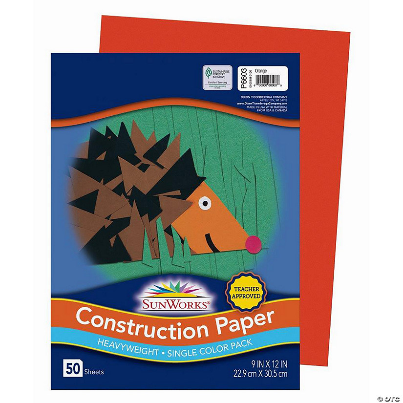 "Pacon® Riverside® Orange 9"" x 12"" Heavyweight Construction Paper - 50 Sheets Audio Thumbnail"