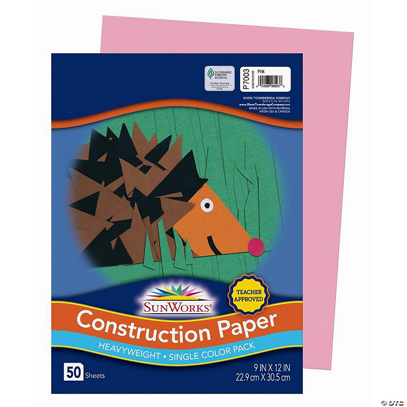 "Pacon® Riverside® Pink 9"" x 12"" Heavyweight Construction Paper - 50 Sheets Audio Thumbnail"
