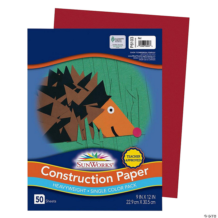 "Pacon® Riverside® Red 9"" x 12"" Heavyweight Construction Paper - 50 Sheets Audio Thumbnail"