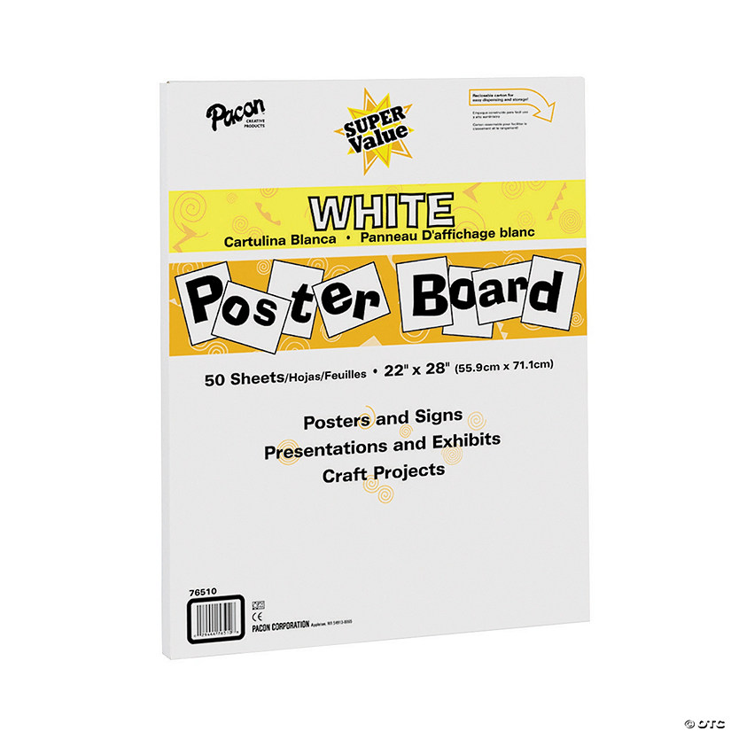 Pacon® Super Value White Poster Boards