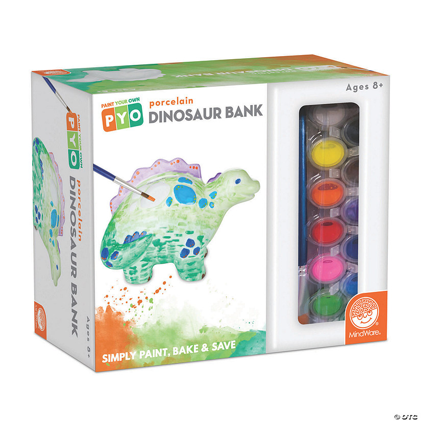 Paint Your Own Porcelain Bank: Dinosaur Image Thumbnail