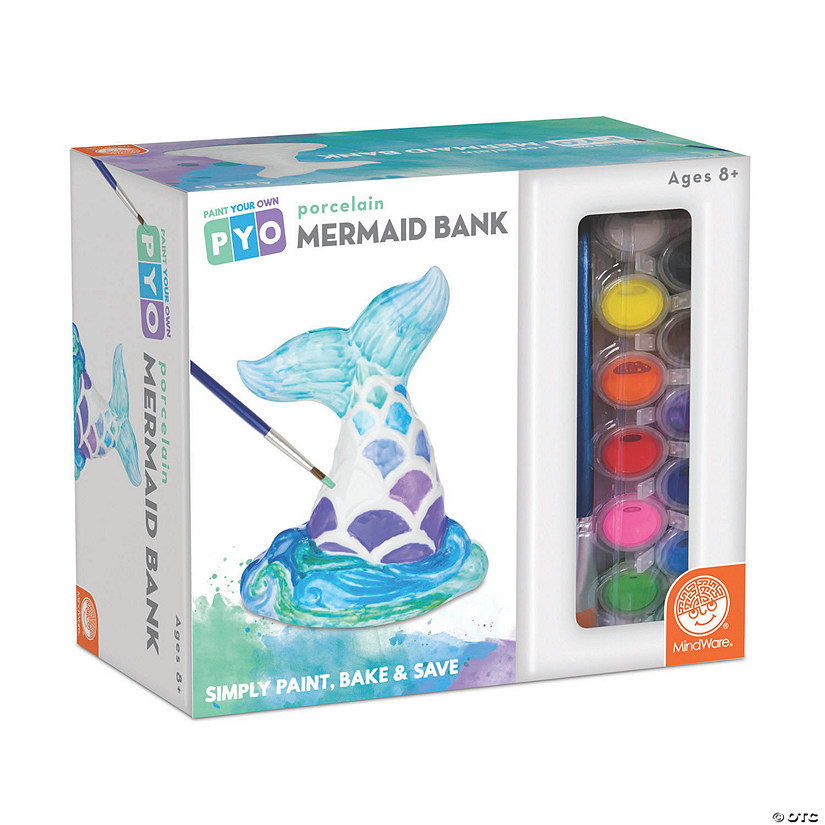 Paint Your Own Porcelain Bank: Mermaid