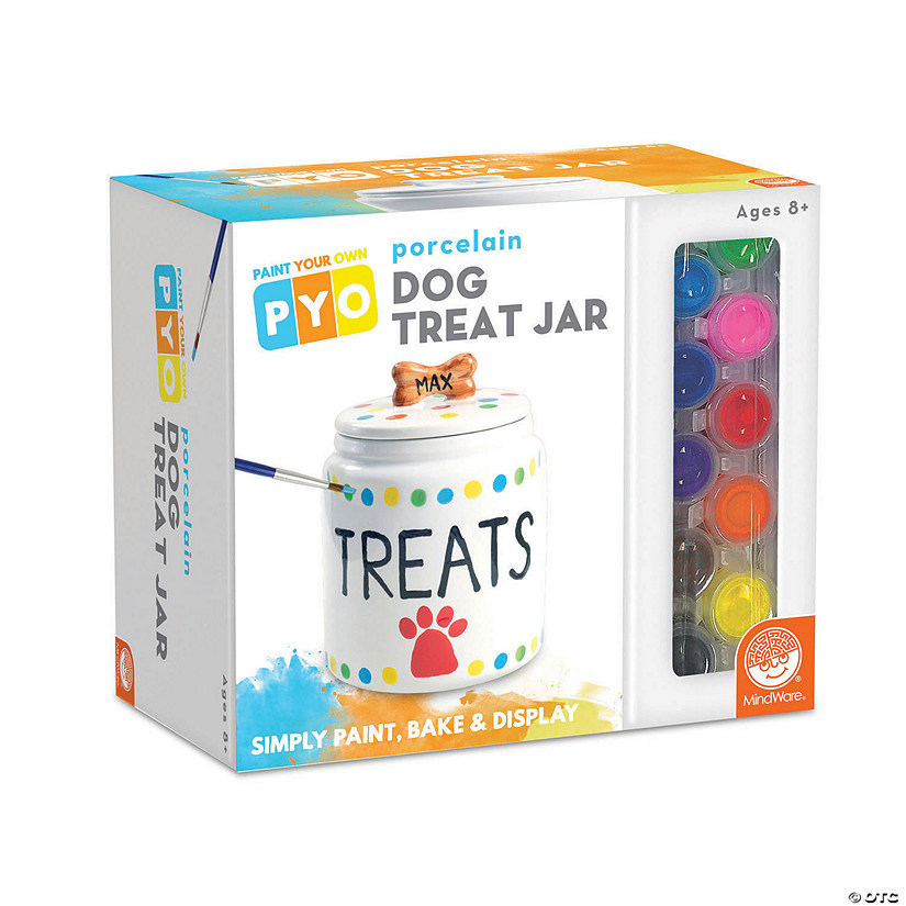 Paint Your Own Porcelain: Dog Treat Jar Image Thumbnail