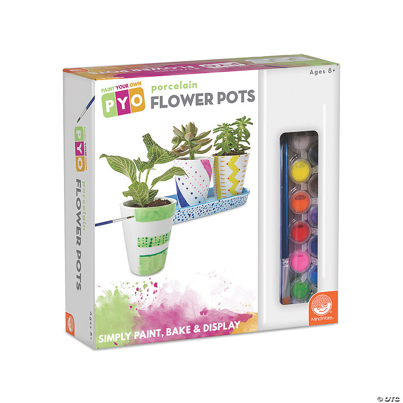 Paint Your Own Porcelain: Flower Pots