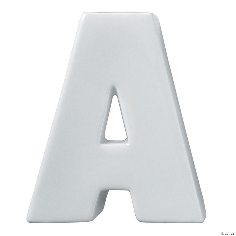 Paint Your Own Porcelain Letter  A