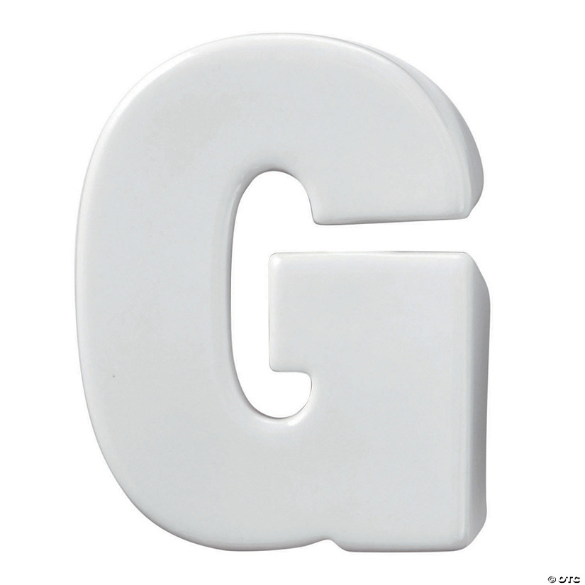 Paint Your Own Porcelain Letter  G