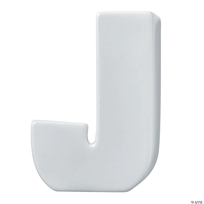 Paint Your Own Porcelain Letter  J Image Thumbnail