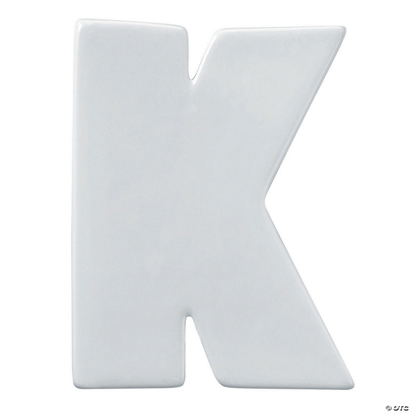 Paint Your Own Porcelain Letter  K Image Thumbnail