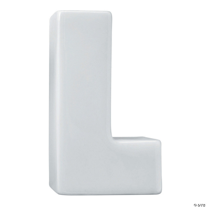 Paint Your Own Porcelain Letter  L