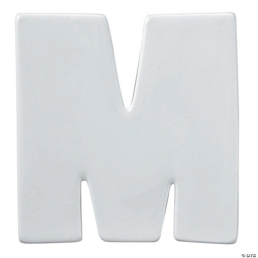 Paint Your Own Porcelain Letter  M