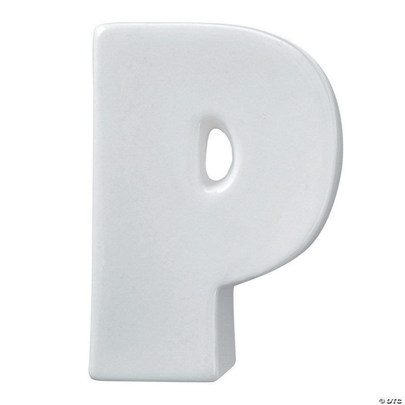 Paint Your Own Porcelain Letter  P Image Thumbnail