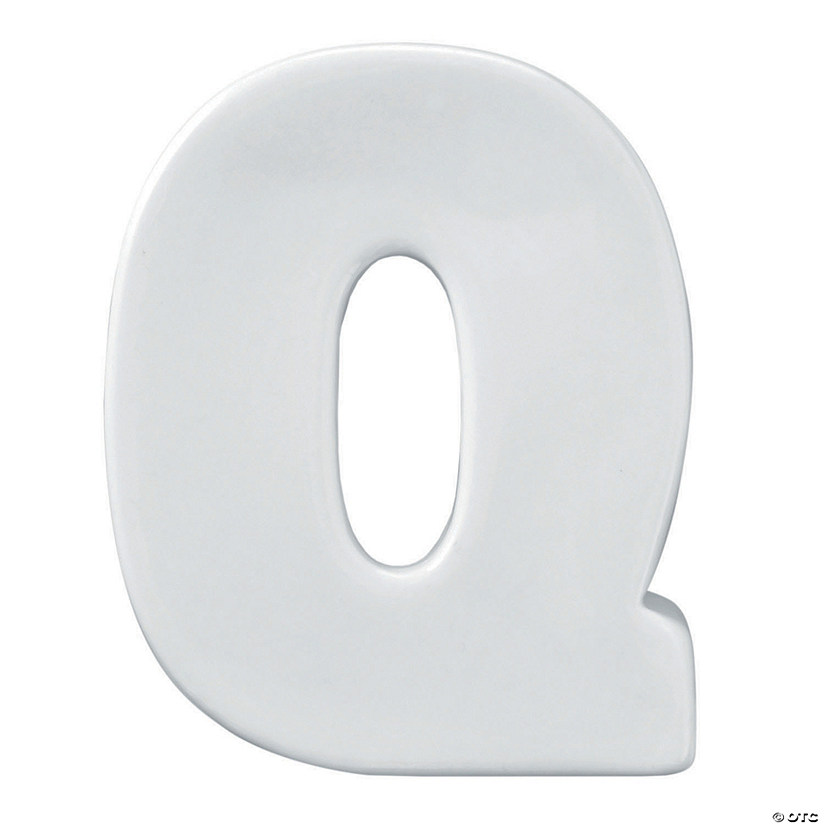Paint Your Own Porcelain Letter  Q Image Thumbnail