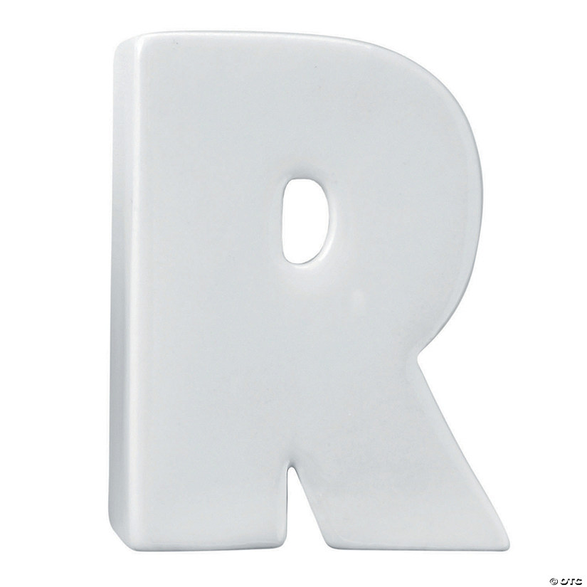 Paint Your Own Porcelain Letter  R Audio Thumbnail