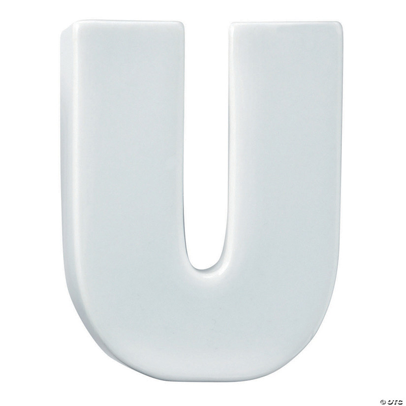 Paint Your Own Porcelain Letter  U Image Thumbnail