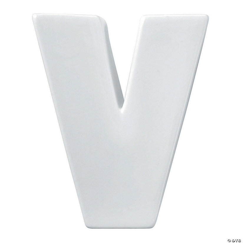 Paint Your Own Porcelain Letter  V Image Thumbnail