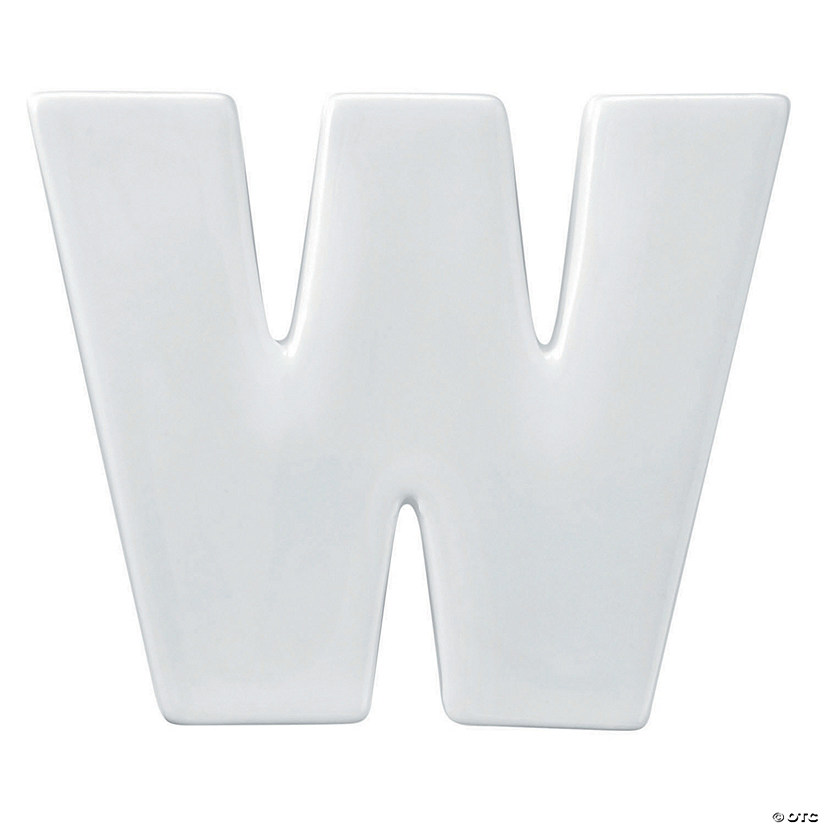 Paint Your Own Porcelain Letter  W