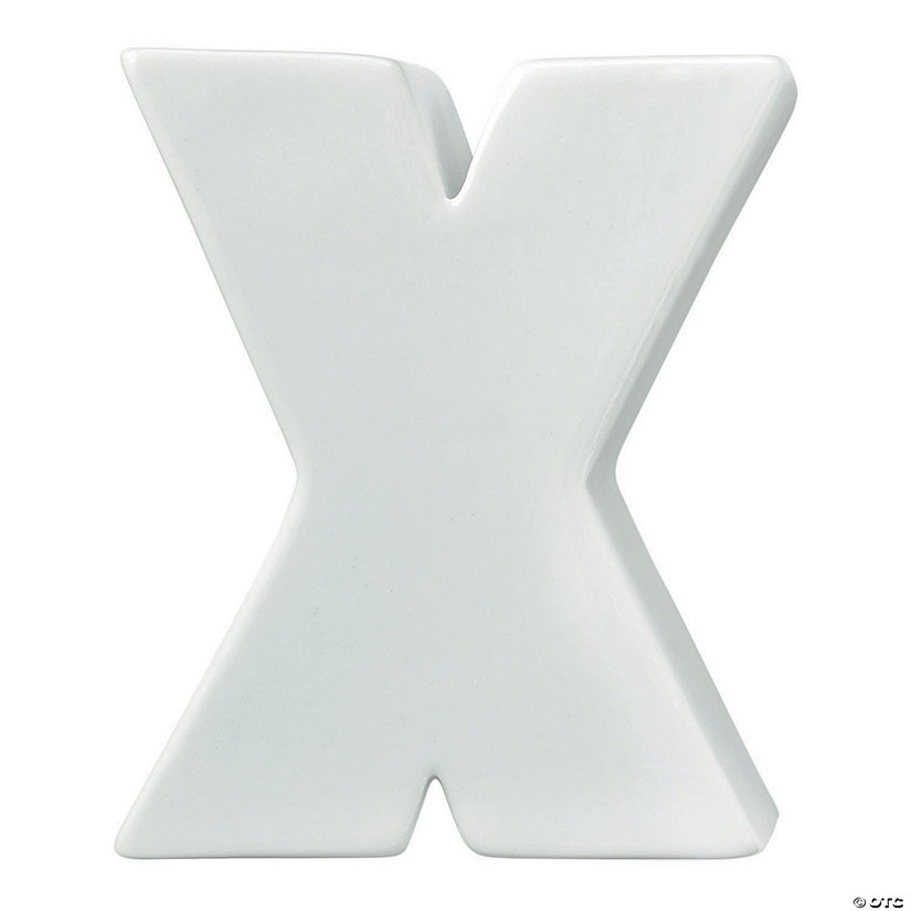 Paint Your Own Porcelain Letter  X Image Thumbnail