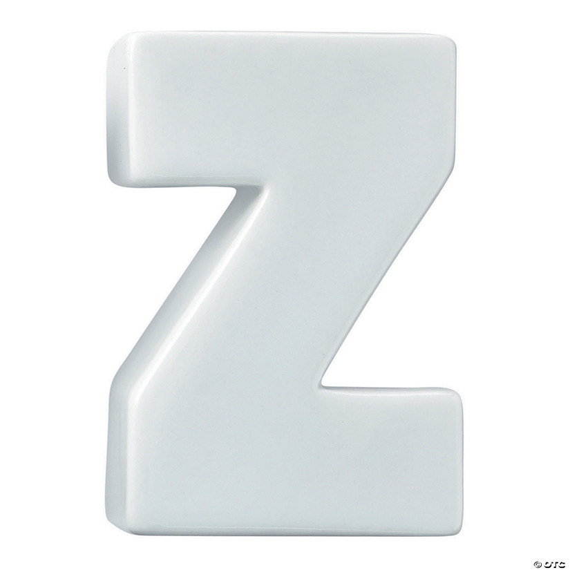Paint Your Own Porcelain Letter  Z