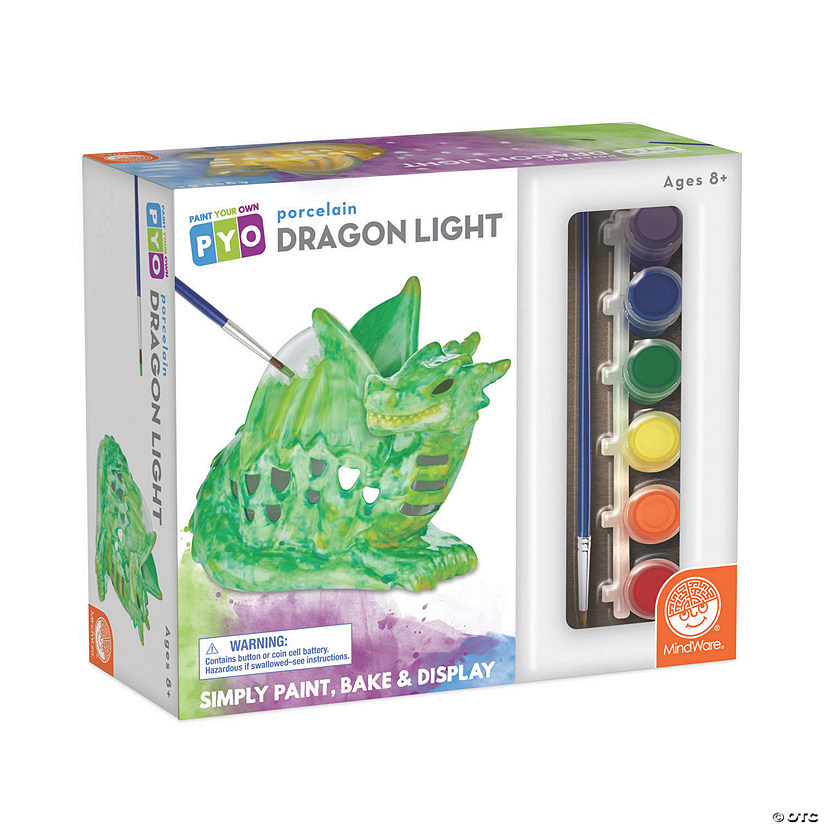 Paint Your Own Porcelain Light: Dragon Image Thumbnail