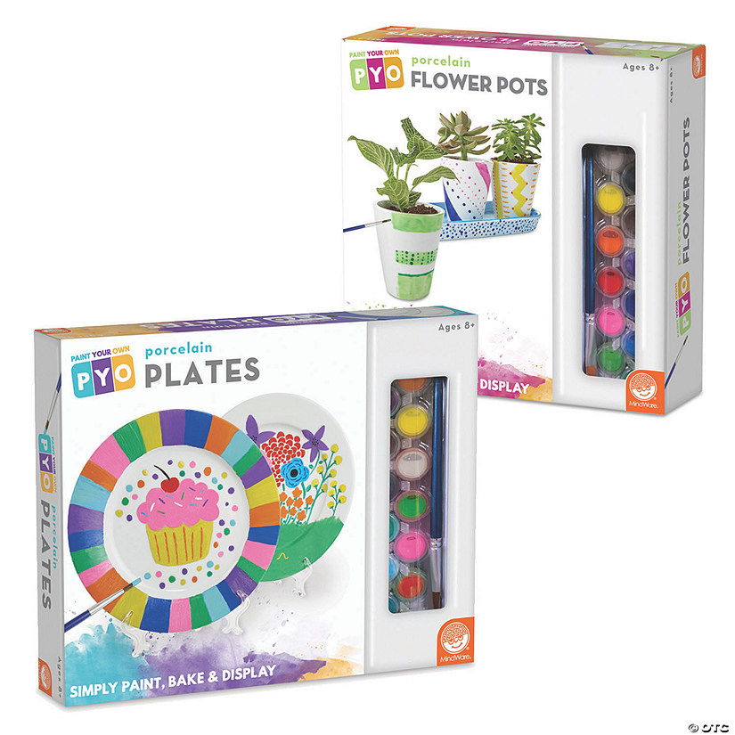 Paint Your Own Porcelain Plates and Flower Pots: Set of 2 Image Thumbnail