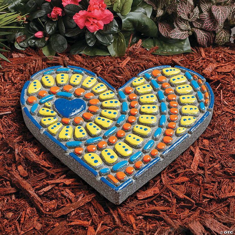 Paint Your Own Stepping Stone: Heart Image Thumbnail