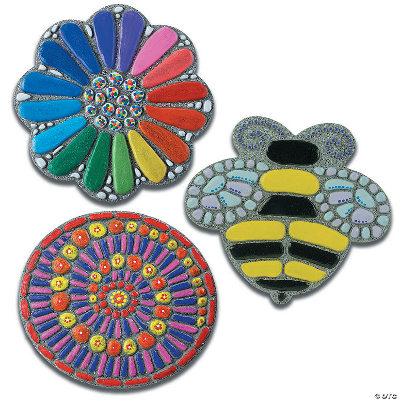 Paint Your Own Stepping Stones: Flower, Bee & Mosaic: Set of 3 Audio Thumbnail