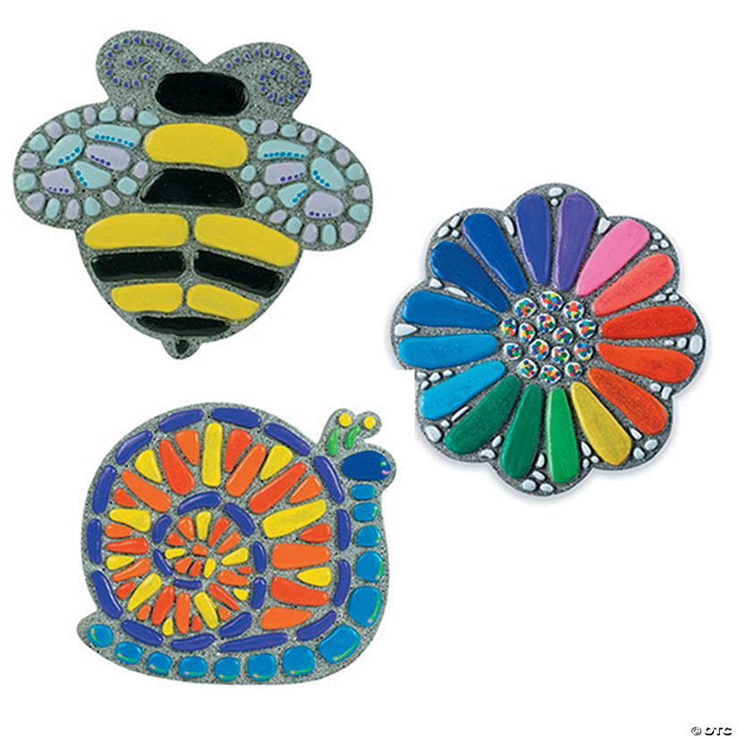 Paint Your Own Stepping Stones: Flower, Bee & Snail Set of 3 Audio Thumbnail