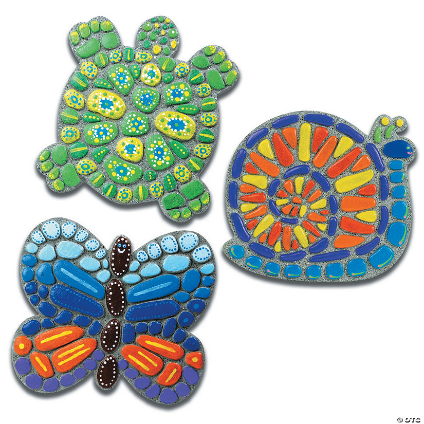 Paint Your Own Stepping Stones: Snail, Butterfly & Turtle: Set of 3 Audio Thumbnail