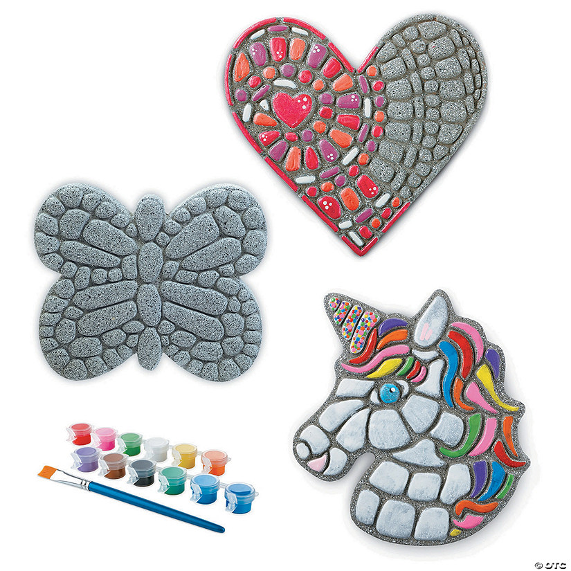 Paint Your Own Stepping Stones: Unicorn, Butterfly & Heart Audio Thumbnail