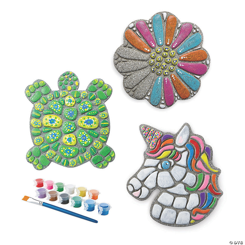 Paint Your Own Stepping Stones: Unicorn, Flower & Turtle Set of 3 Audio Thumbnail