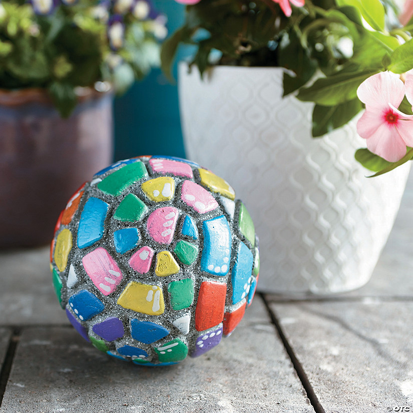 Paint Your Own Stone: Mosaic Garden Orb Image Thumbnail