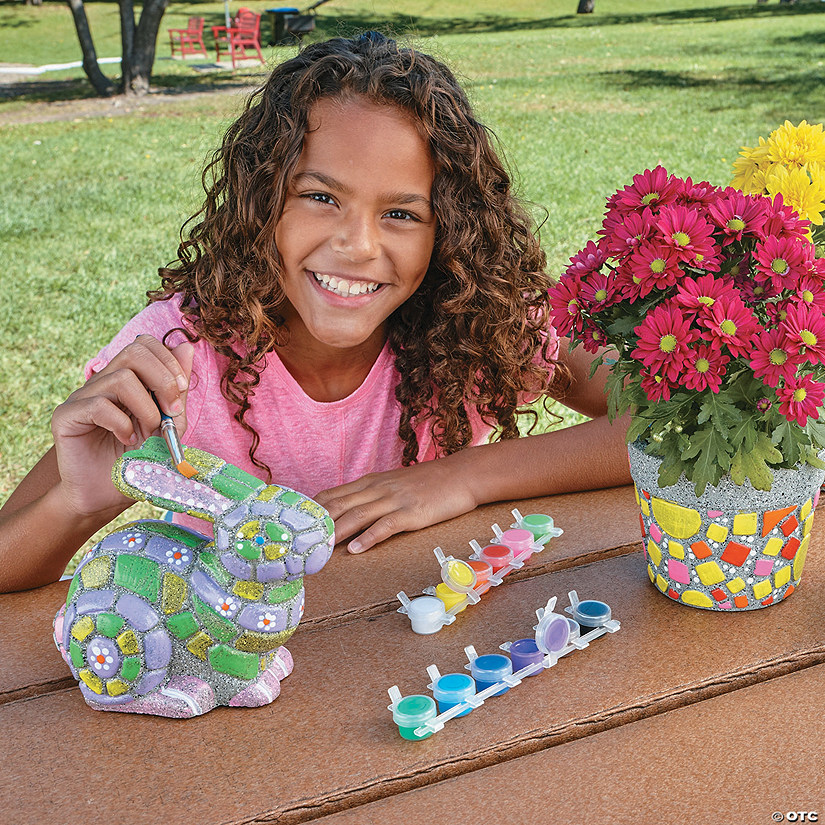 Paint Your Own Stones: Flower Pot and Bunny Image Thumbnail