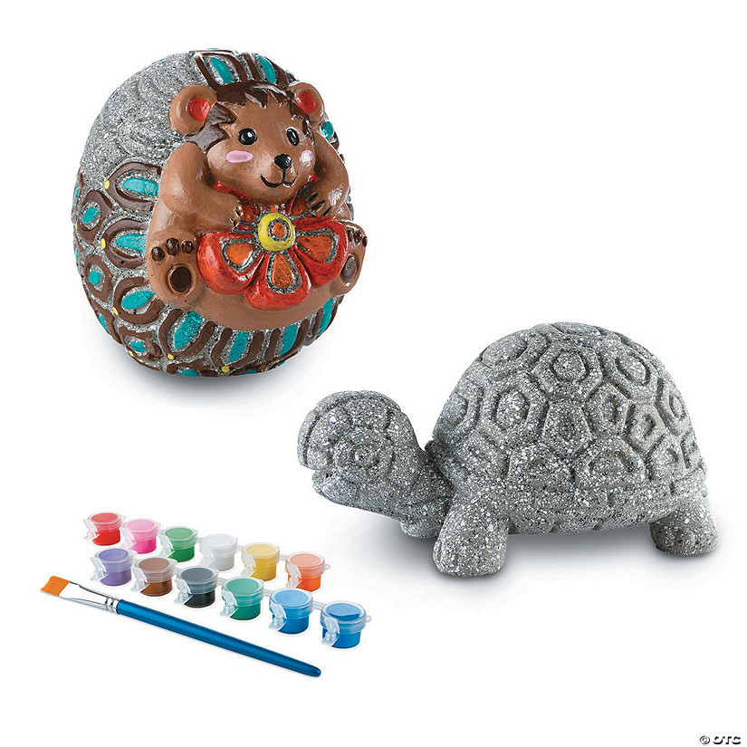 Paint Your Own Stones: Turtle and Hedgehog Image Thumbnail