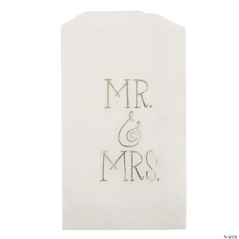 Painted Floral Mr. & Mrs. Treat Bags
