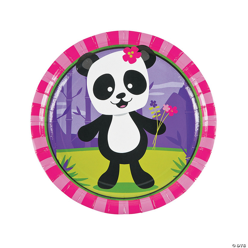 Panda Party Paper Dinner Plates