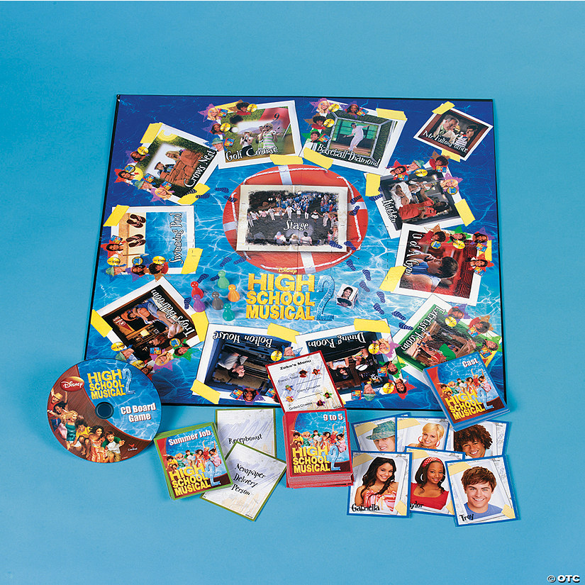 Paper High School Musical 2 Cd Board Game Discontinued