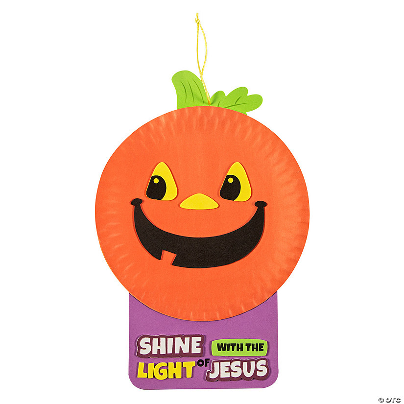 Paper Plate & Foam Christian Pumpkin Craft Kit Image Thumbnail