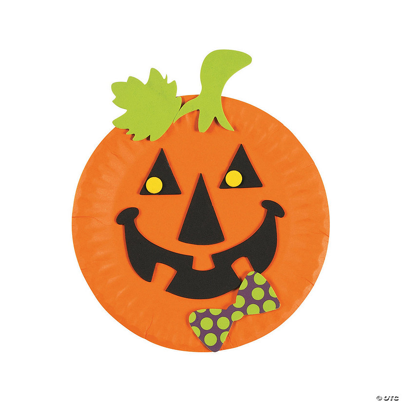 Paper Plate Jack-O'-Lantern Craft Kit