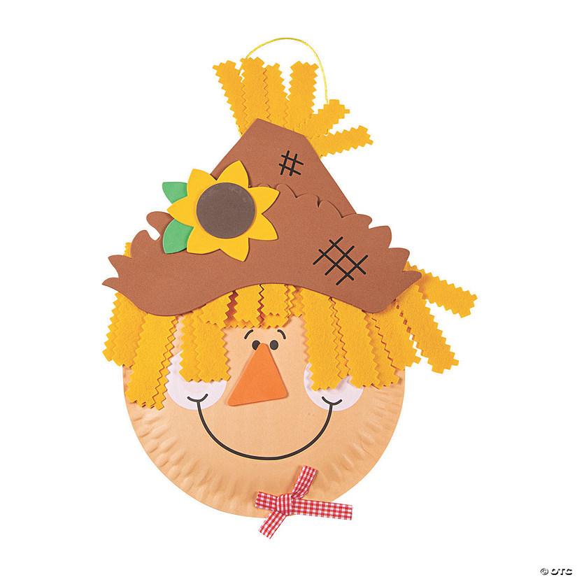 Paper Plate Scarecrow Craft Kit Image Thumbnail