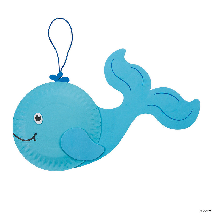 Paper Plate Whale Craft Kit Image Thumbnail