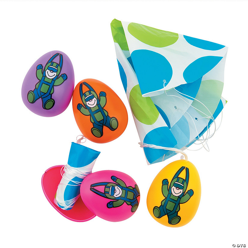 Parachute-Filled Plastic Easter Eggs - 12 Pc. Audio Thumbnail