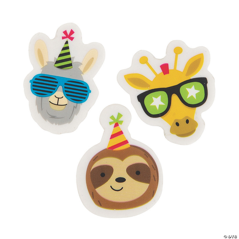 Party Animal Scented Erasers - 24 Pc. Image Thumbnail