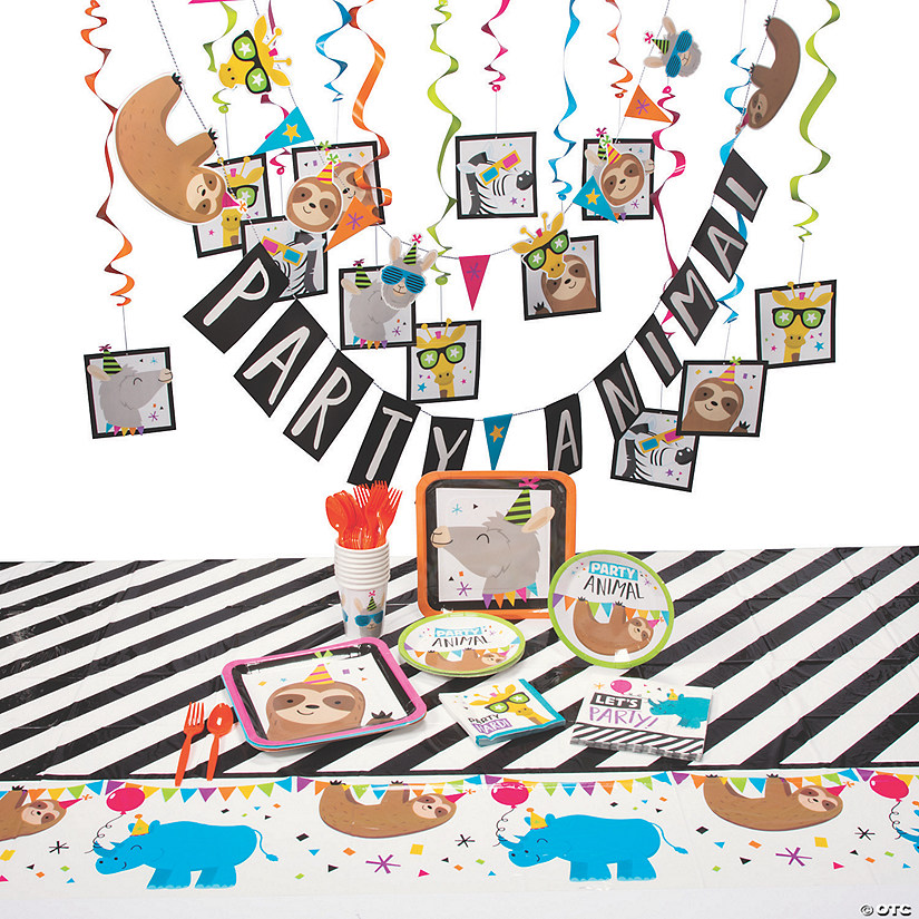 Party Animal Tableware Kit for 8 Image Thumbnail