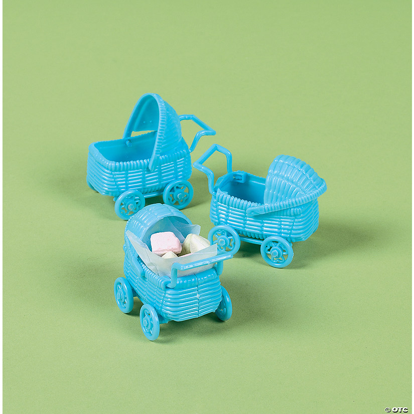 Pastel Blue Mini Baby Carriage Favors Discontinued