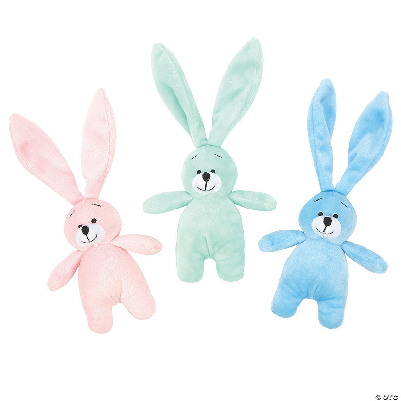 Pastel Long Ear Stuffed Easter Bunnies Image Thumbnail