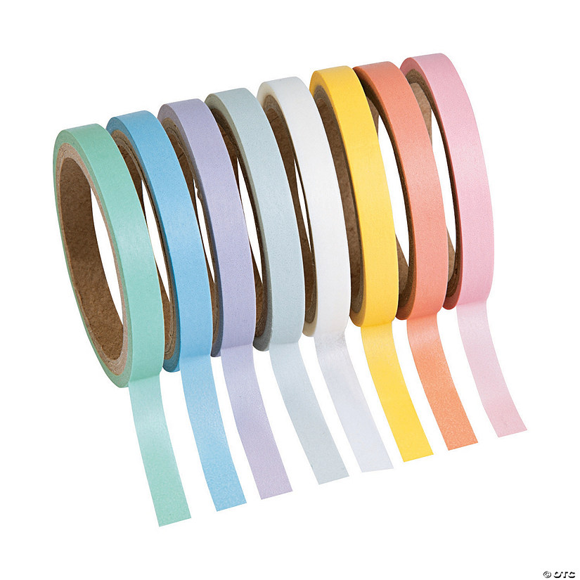 Pastel Solid Colors Washi Tape Set Audio Thumbnail