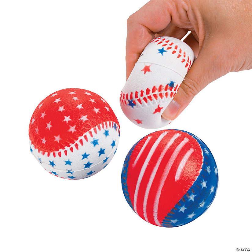 Patriotic Baseball Stress Balls - 12 Pc. Audio Thumbnail
